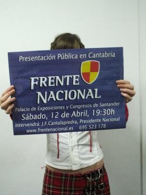 El día 12 tienes una cita con el Frente Nacional en Santander.